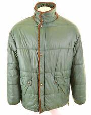 TRUSSARDI Mens Padded Jacket Size 40 Large Green  FW01