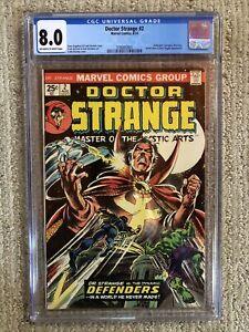 Doctor Strange #2 Marvel Bronze Age Comic 1974 CGC 8.0 OWTWP