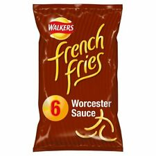 Walkers French Fries Worcester Sauce Snacks 6 x 18g
