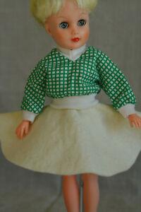 "Vintage 10"" Small Doll Green Top and Skirt, Miss Revlon, Jill LMR Ginger"