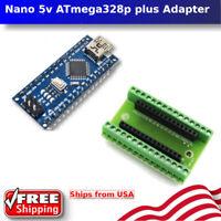 MINI USB Nano V3.0 5v ATmega328P 16M Micro-controller board Arduino plus Adapter