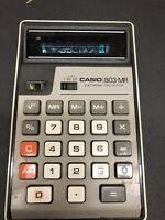 1975 VFR Casio 803-MR Electronic Calculator  Vintage Office Adding Machine LQQK