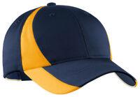 Sport-Tek Dri-Fit New Color Block Cap Baseball Moisture Wicking Hat Golf. STC11