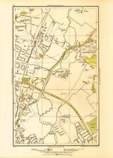 LONDON. South Woodford Woodfood Bridge Wanstead Redbridge Ilford 1933 old map