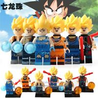 Dragonball Z Son Goku Gohan Kuririn Vegeta Yamcha 6 Toy Figures Fits with Lego