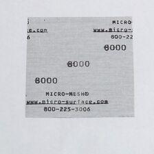 "Micro-Mesh  Finishing Sheet 1 sheet 6'' x 6"" 8000 grit Extra Fine SANDPAPER"