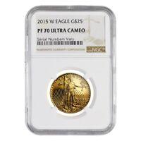 2015 W 1/2 oz $25 Proof Gold American Eagle NGC PF 70 UCAM