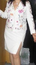 Laura Ashley white linen mix skirt UK18