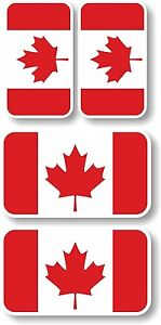 Canada flags Vinyl sticker/decal Extra small 45mm & 35mm group of 4 Canadian