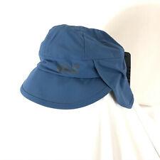 Jack Wolfskin Kids Rainy Day Hat Headgear Water Wind Proof Neck Protector Blue S