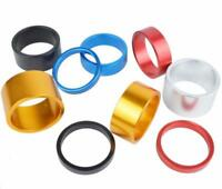 HEADSET SPACERS 1 1/8 BICYCLE BIKE CNC MACHINE LIGHT ALLOY 5 10 15 FIXIE BMX MTB