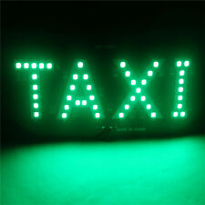 Taxi Cab Windscreen Windshield Sign Green LED Taxi Light Lamp BulbH&T