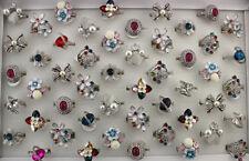Newest Mixed Lots 47pcs Crystal Rhinestone Enamel Charm Jewelry Lady's Rings