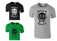 Motorhead T Shirt England Everything Louder Lemmy Mens Printed Funny Top Tees