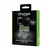 2 Rechargeable Batteries for GoPro Hero3+ & Hero3 - GoPro Hero 3+ & Hero3 Batter