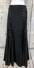 Angel Secret (Sz 3X 4X) Gothic Steampunk Corset Blk Maxi Womens Skirt Waist 44""