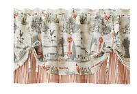 Better Homes & Gardens Country Rustic Farm Window Valance Cream Red Farmhouse
