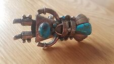NAVAJO  KACHINA RING NATURAL  TURQUOISE STERLING SILVER
