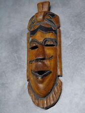 sculpture masque africain déco murale, en bois