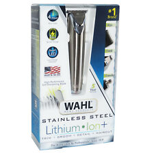 WAHL Lithium Ion Stainless Steel All-in-1 Groomer Trimmer Detailer DUAL VOLTAGE