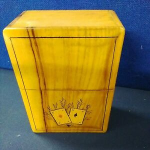 Playing card vintage - wooden card box