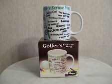 Coffee Mug Golfer's Excuses Gift Tea Coco Gag Cup Man Cave Dishwasher Safe
