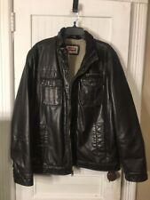 Men's Levi Strauss Faux Leather Jacket Sz XL EUC
