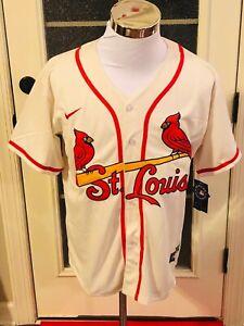 St. Louis Cardinals #28 Nolan Arenado Cream Throwback Jersey