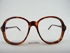 Vintagebrille/Brillen oldschool 70er Hornoptik braun große Gläser Gr. L 56[]18