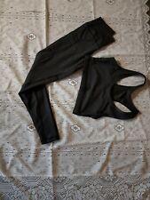 Femme Ensemble Yoga Soutien-Gorge Sport Slim Pantalon Extensible Legging Set