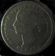 10 Cents Canada 1900 Victoria Silver Coin XF