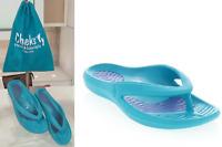 Tony Little CHEEKS Health Sandals, One Piece Foot Technology;Blue 8