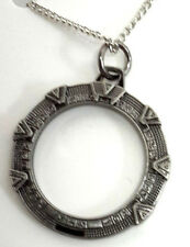 Stargate SG-1 Star Gate Metal Necklace w Chain- FREE S&H