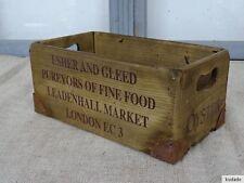 Nr.C11C Vintage Kiste ~ LEADENHALL MARKET LONDON ~ Holzkiste ~ Shabby Chic
