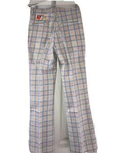 Farah Interstate Ten Plaid Pants NOS NWT Vintage 70s Store Stock