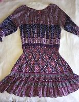Women's Floral Bohemian Summer Dress. Size Extra Small. Bloomingdale's Brand