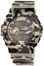 Herrenuhr Digital Beige Braun Grau Camouflage + Box Militär D-2400006005450