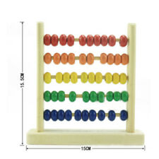 Wooden Numbers Counting Abacus Multicolor Numbers Colorful Math Learning Toy Ho3