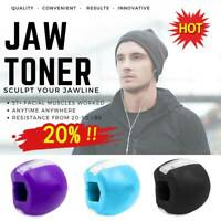 Jaw Exerciser Ball Mouth Trainer Toner Fitness Ball Neck Toning Lifting