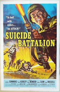 Suicide Battalion 1958 Original US One Sheet Poster