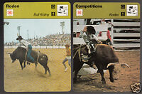 RODEO BULL RIDING Competitions Sport Photo 1978-1979 SPORTSCASTER 2 CARDS