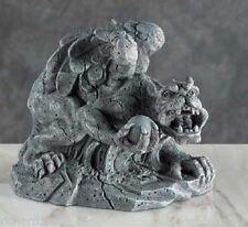 "Figurine Gargoyle Holding a Stone Orb Medieval Fantasy Mythology NEW 4"""