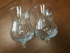 Set of 2 Hurricane Votive Cup Candle Holders Homco Home Interior