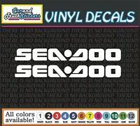 "One Pair 18"" SEADOO car Truck JetSki Waverunner PWC window vinyl sticker decal"