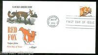 UNITED STATES 1998 $1 RED FOX   ARTMASTER UN-ADDRESSED FDC