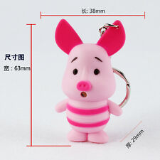 Winnie The Pooh Piglet Sound LED Light Torch Keyring Kids Toy Party Favor KYM164