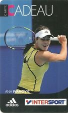 Rare/gift card: ana ivanovic-tennis/intersport/adidas-card