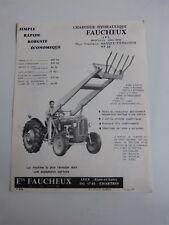 prospectus : chargeur hydraulique  FAUCHEUX pour tracteur MASSEY FERGUSON MF 35