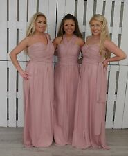 Chiffon Convertible Multi Way Bridesmaid Dress Infinity Multi Wear Prom Long LOT