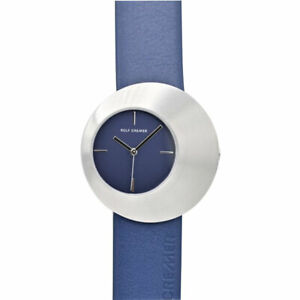 "ROLF CREMER Serie "" ECLIPS "" 505904  blau  Lederarmband Uhr NEU Damen"